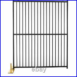 12 Panel Temporary Security Fence Kit, European Style, 60W x 72H, Black Tiger
