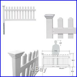 3 Ft. X 6 Ft. Newport Picket Fence W Post No-Dig Steel Pipe Anchor Kit