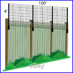 4' x 100' Deer Fence Extension Kit For Existing Wood PVC Split Rail Chain Link