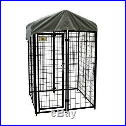4 x 4 ft Welded Wire Dog Fence Kennel Kit Pet Cage Shelter Shelter Outdoor Yard