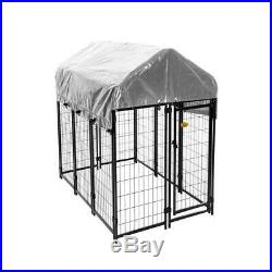 6 Ft. X 4 Ft. X 6 Ft. Welded Wire Dog Fence Kennel Kit Outdoor Pets Solid Steel
