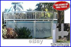 Above Ground PVC Pool Safety Fence Section Kit Protect Gate Round 24 in Tall New