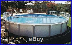 Above Ground Pool Fence Base Kit 8 Section, UV Protected Rigid Vinyl Strong Best