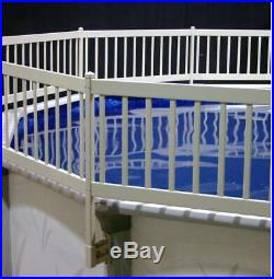 Above-Ground Pool Fence Kit 3 Sections Corrosion Resistant Stainless Steel Taupe