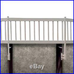 Above-Ground Pool Fence Kit (8 Sections) In Taupe