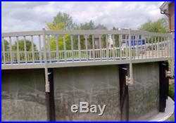 Aboveground Pool Fence Base Kit A 8 Sections 24 White Resin Pool Fence