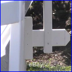 Aboveground Swimming Pool Resin Safety Fence Base Kit A 8 Sections Color-White