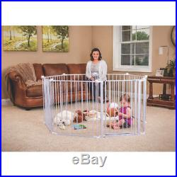 Baby Gate Child Safety Fence Kit Stairs Doorway Gates Extra Large Play Yard Pen