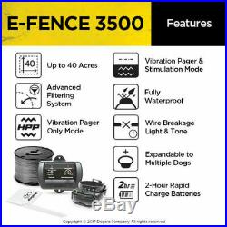 Dogtra E Fence 3500 Rechargeable In Ground Dog Containment System 2 Acre Kit