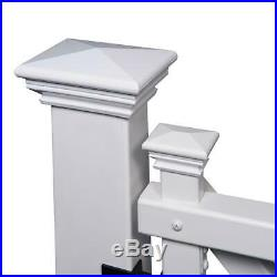 Fence Gate Kit 3-1/2 ft. X 3-1/2 ft. Posts Hardware Vinyl Scallop Top White