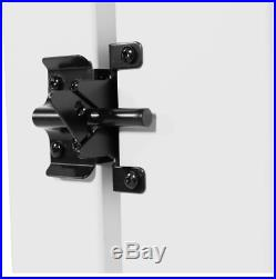Fence Gate Kit White Vinyl Fencing Durable Heavy Duty Adjustable Tension Control