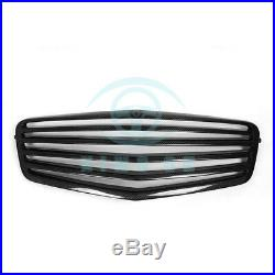 Front Grille Fence Grills For Mercedes Benz E-Class W212 09-12 Carbon Fiber