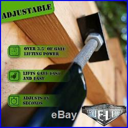 Fully Adjustable Gate Brace Wood Privacy Fence Anti Sag Kit Extends 8 Foot Yard