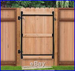 Gate Building Repair Kit 6ft Tall Fence Steel Frame Adjustable 60-96in Opening