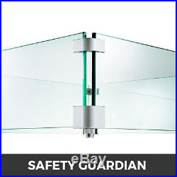 Glass Flame Guard For Drop-In Fire Pit Pan Flame Fencing Wind Guard Kits Outdoor