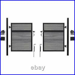 Infinity Euro Estate EF ET2206, Adjustable Fence Double Gate Kit, In Ground