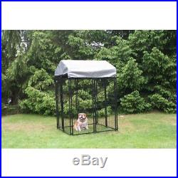 KennelMaster 4 ft. X 4 ft. X 6 ft. Welded Wire Dog Fence Kennel Kit
