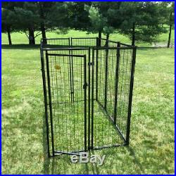 KennelMaster 6 ft. X 4 ft. X 6 ft. Welded Wire Dog Fence Kennel Kit