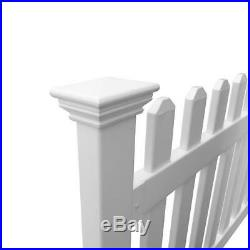Picket Fence Garden Lawn Fencing Post No Dig Steel Pipe Anchor Kit 3 x 6 Feet