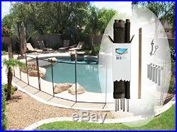 Pool Fence DIY by Life Saver Fencing Section Kit, 4 x 12-Feet, Black