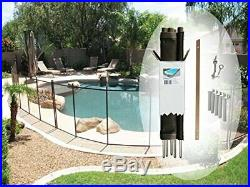 Pool Fence DIY by Life Saver Fencing Section Kit, 4 x (BlackSingle Section)