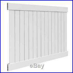 Privacy Vinyl Fence Panel Kit White Lawn Yard Backyard Fencing Water Resistant