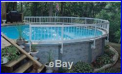 Swimming Pool Fence Kit Above Ground Pools 8 Section Railing Barrier Safety Post