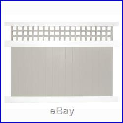 Two-Tone UV Protected Scottsdale 6 ft. H x 8 ft. W Vinyl Privacy Fence Panel Kit