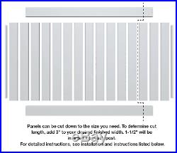 Vinyl Privacy Fence White Panel Kit 6 x 8 Ft Durable Solid Quality Yard Home New