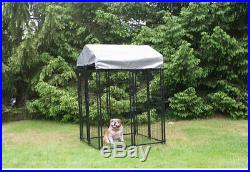 Welded Wire Dog Fence Kennel Kit Sun Shade Waterproof Cover Animal Pet Supplies