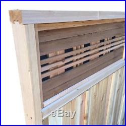 Western Red Cedar Horizontal Lattice Top Fence Panel Kit Wooden Privacy Fencing