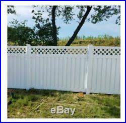 White Easy to Assemble Clearwater 5-ft H x 6-ft W Vinyl Privacy Fence Panel Kit