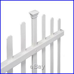 White No-Dig Vinyl Fence Kit (30in x 56in)(2 Pack)Outdoor Garden Durable Pickets