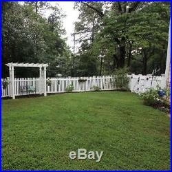 White Provincetown UV Protected 4 ft. H x 8 ft. W Vinyl Picket Fence Panel Kit