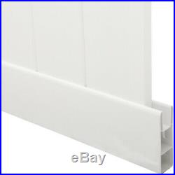 White Vinyl Fence Panels Kit 6 Ft. H X 6 Ft. W Easy-to-Assemble Water Resistant
