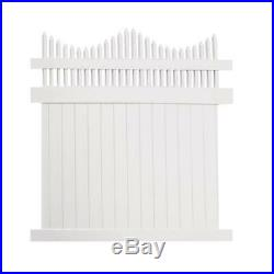 White Water Resistant Louisville 6 ft. H x 8 ft. W Vinyl Privacy Fence Panel Kit