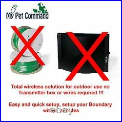Wireless Electric Fence Safe Dog Containment System Wireless GPS 1 Collar Kit