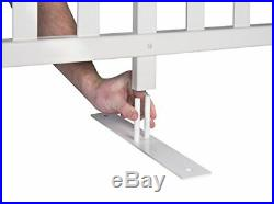 Zippity Outdoor Products ZP19026 Lightweight Portable Vinyl Picket Fence Kit withM