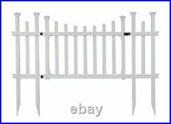 Zippity Outdoor Products ZP19028 Unassembled Madison Vinyl Gate Kit with Fenc
